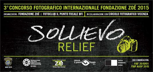 """3° Concorso Fotografico Internazionale Fondazione Zoé """"Sollievo - Relief"""""""