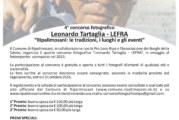 """4° concorso fotografico """"Leonardo Tartaglia – LEFRA"""" – Scadenza 31 Ottobre 2016"""