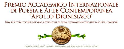 Premio Internazionale d'Arte Contemporanea Apollo dionisiaco Roma 2017