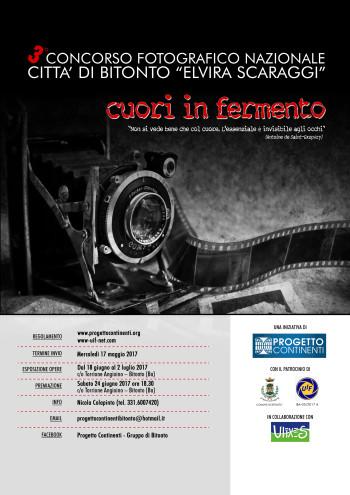 """3° Concorso Fotografico Nazionale Città di Bitonto """"Elvira Scaraggi"""""""
