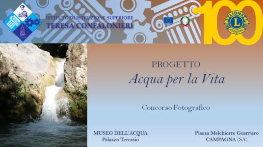 """Progetto """"Acqua per la Vita"""""""