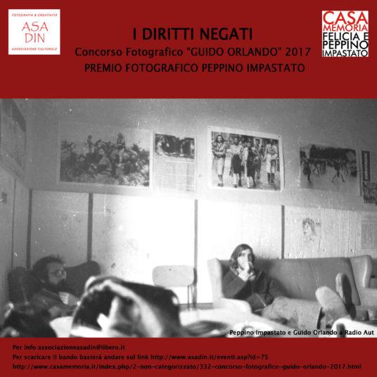"""Concorso Fotografico """"Guido Orlando""""- Premio Fotografico Peppino Impastato"""