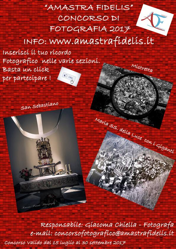 """Concorso di Fotografia """"Amastrafidelis 2017"""""""