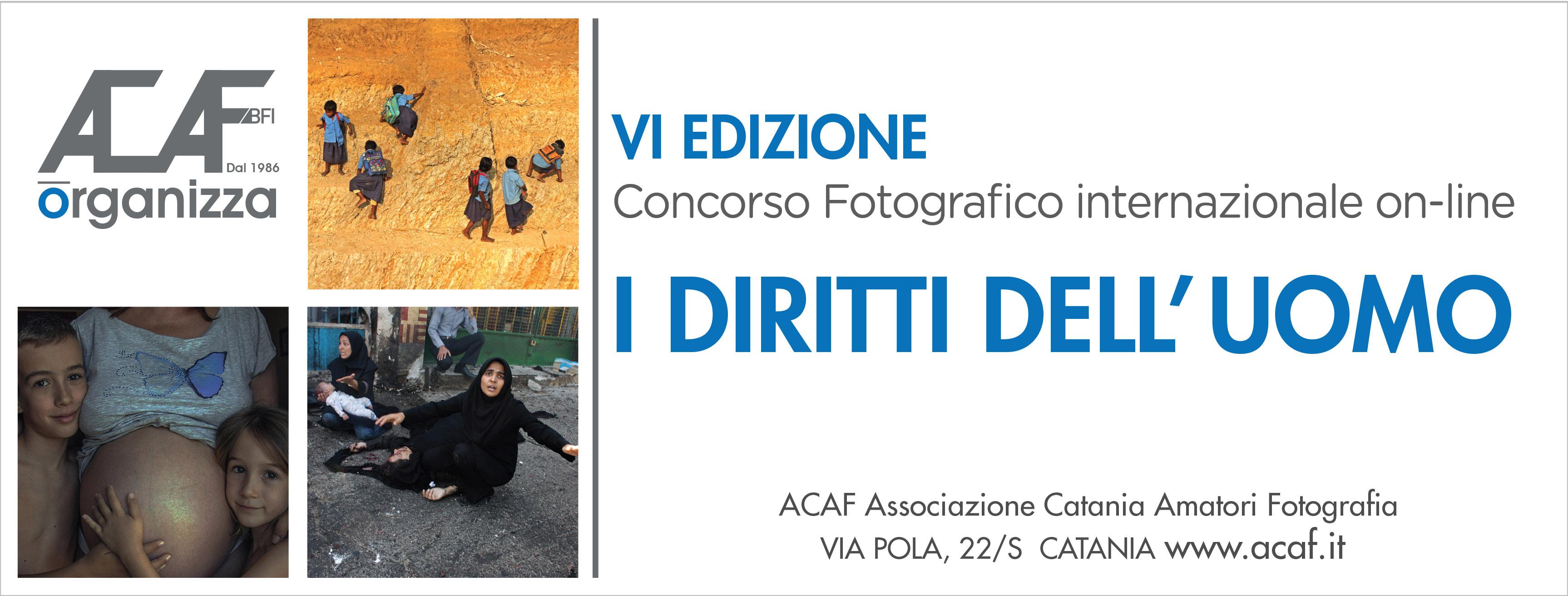 """6° Concorso Fotografico Internazionale """"I diritti dell'Uomo"""""""