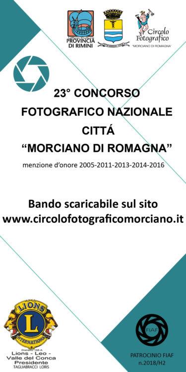 """23° Concorso Fotografico Nazionale """"Città Morciano di Romagna"""""""
