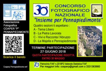 """30° Concorso Fotografico Nazionale """"Insieme per Pennapiedimonte"""" – Scadenza 27 Giugno 2018"""