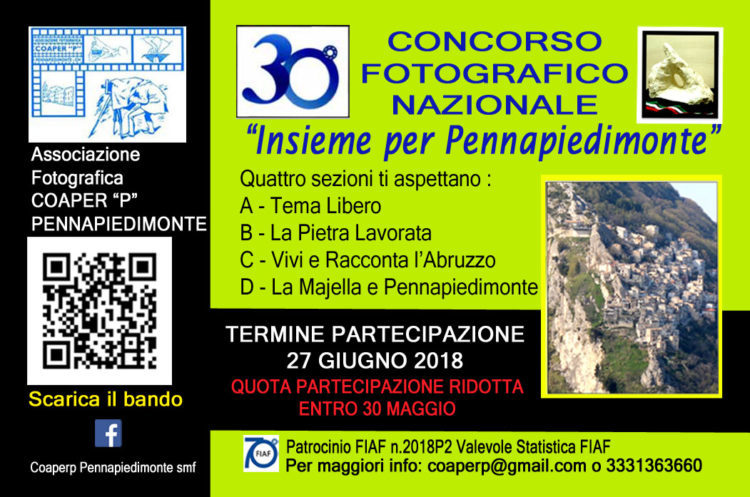 """30° Concorso Fotografico Nazionale """"Insieme per Pennapiedimonte"""""""