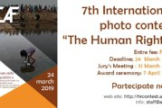 "7th International photo contest ""The Human Rights"" – Scadenza 24 Marzo 2019"