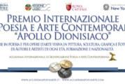 Premio Internazionale d'Arte Contemporanea Apollo dionisiaco Roma – Scadenza 07 Giugno 2019